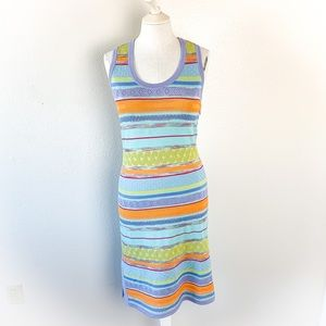 St. John Striped Knit Tank Dress